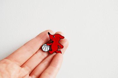チーバくん ピンバッヂ <バスケットボール>