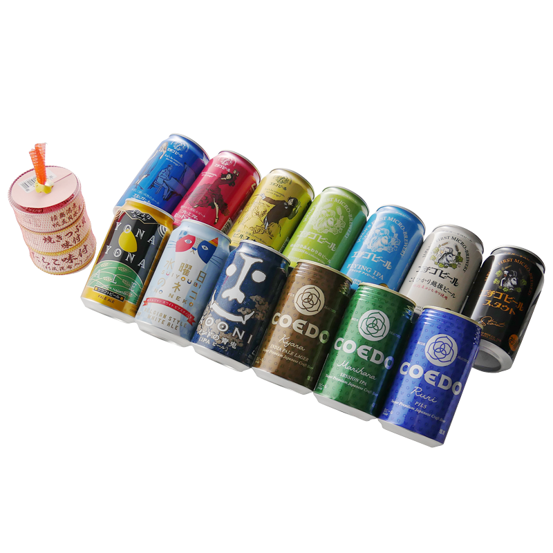 クラフトビールの詰め合わせとおつまみ缶詰セット