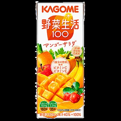 カゴメ 野菜生活100マンゴーサラダ  200ml×24本
