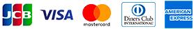 クレジットカードはVISA、Mastercard、JCB、DINERS、AMEXに対応
