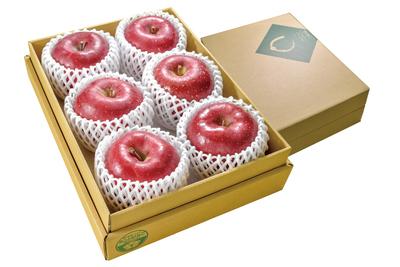 【最上級品贈答用】「サンふじ」または「サンふじ&シナノゴールド」 3kg箱詰 (目安6〜8玉)