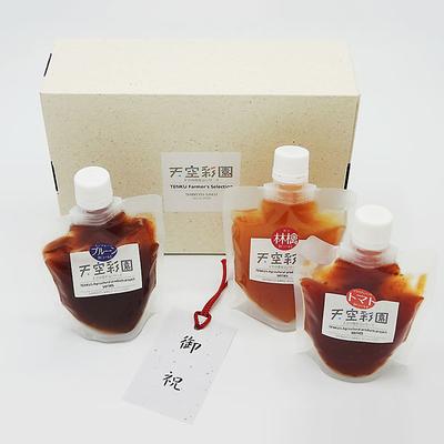 佐久産りんご・プルーン・トマトピューレ 140g×3本