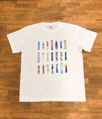 八方尾根 板Tシャツ ホワイト