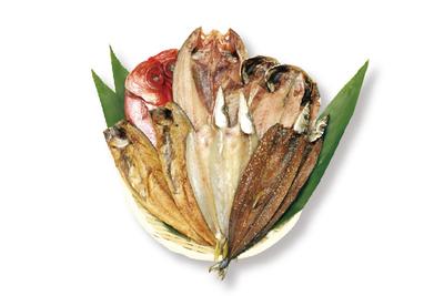 【冷凍】はまゆう(金目鯛1枚/ホッケ1枚/サバ醤油2枚/アジ2枚/カマス2枚/サンマ醤油干し2枚)
