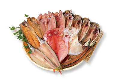 【冷凍】駿河(金目鯛1枚/ホッケ2枚/真ダイ1枚/サバ醤油2枚/アジ4枚/カマス2枚/サンマ醤油干し2枚)