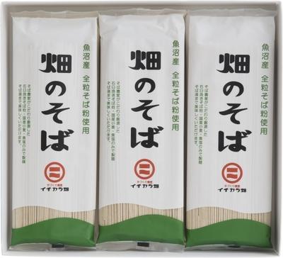 イチカラ畑 魚沼産そば粉使用「畑のそば乾麺」(180g)1ケース12ヶ入り
