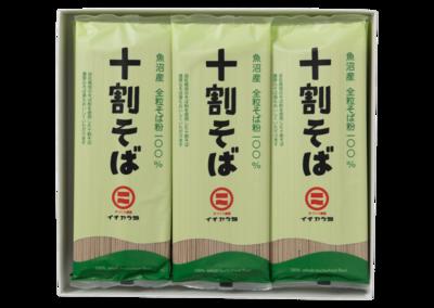 イチカラ畑 魚沼産そば粉100%使用「十割そば乾麺」(180g)1ケース12ヶ入り