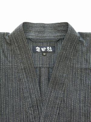 越後伝統織物・亀田縞作務衣【送料無料・税込価格】
