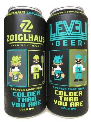 Level Beer x ZoiglhausCOLDER / THAN YOU ARE (レベルビアxゾイグルハウス コールダーゼンユーアー)473mlx2本