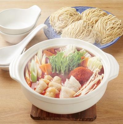 辛激鍋(味噌味・塩味各一袋、麺四玉つき)
