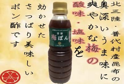 普代の昆布入り・香醇梅ぽん(レギュラーサイズ)