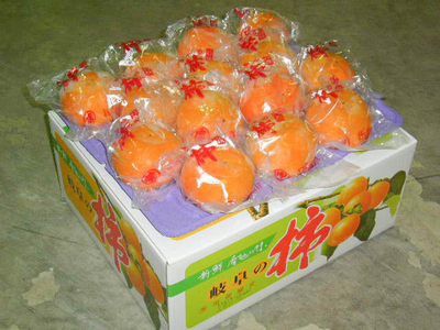 冷蔵富有柿 - L (2段28ケ) 贈答用