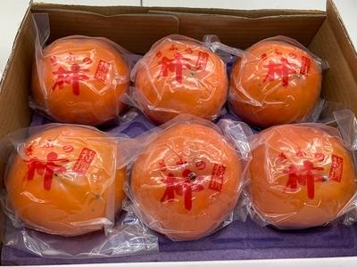 期間限定 贈答用冷蔵柿 6個入
